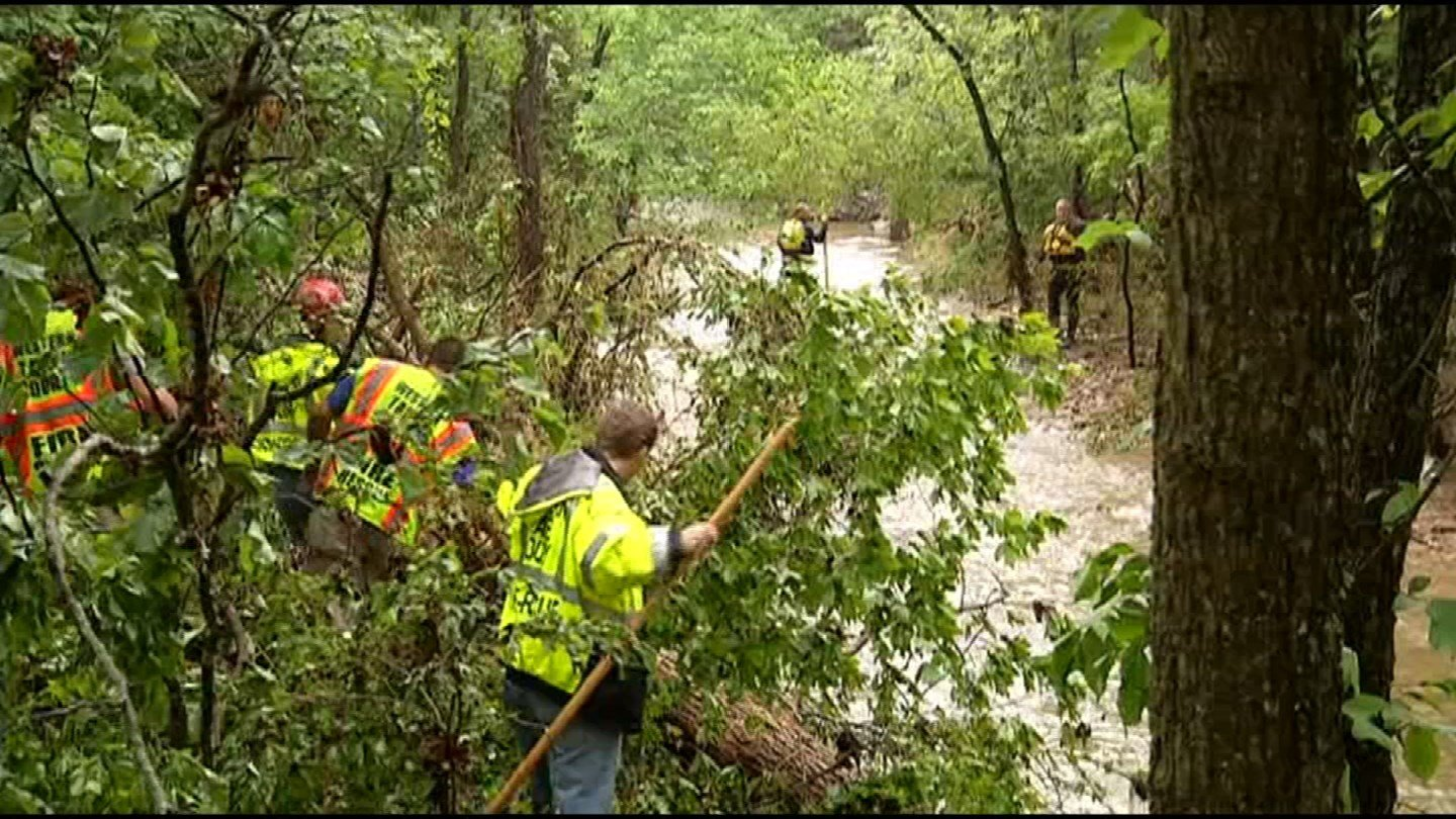 Authorities have recovered two bodies and are searching for a third person after their vehicle was overtaken by floodwaters in Branson. (KCTV5)