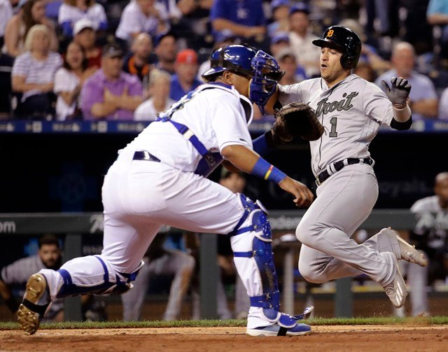 The Tigers scored four runs in the eighth, highlighted by Cabrera's two-run single. (AP)