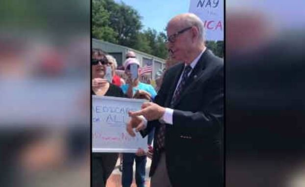 Video circulating on Twitter claims to show U.S. Sen. Pat Roberts supporting single payer health care and Medicare. (Planned Parenthood of the Great Plains)