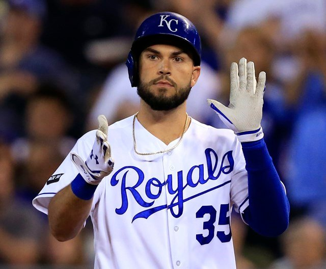 Eric Hosmer recorded his 1,000th career major league hit with a leadoff single in the third inning. (AP)