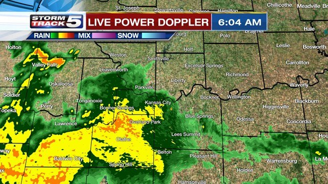 A stronger storm could produce some hail and gusty winds. (KCTV5)