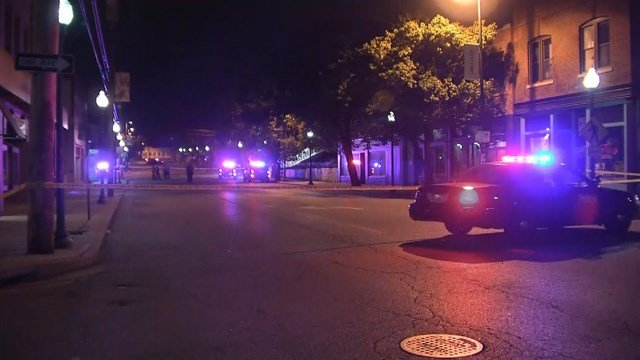 The woman was shot one time,at close range, and taken to an area hospital with life-threatening injuries.  (KCTV5)