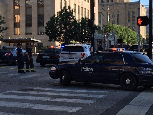 They say a backpack was found by officers at about6:10 a.m. in the 600 block of E12th Street. (KCTV5)