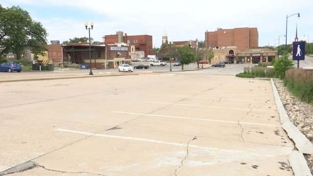 Right now, just north of the square, sits an empty parking lot. The hope is to turn that lot into a permanent farmer's market. (KCTV5)