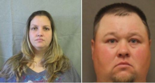 A mother and her boyfriend are accused of padlocking children inside rooms, leaving them alone.
