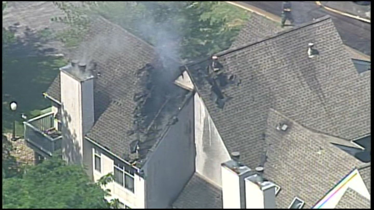 Six residents, including one child, were forced out of a four-plex town home at Three Fountains.(Chopper5)