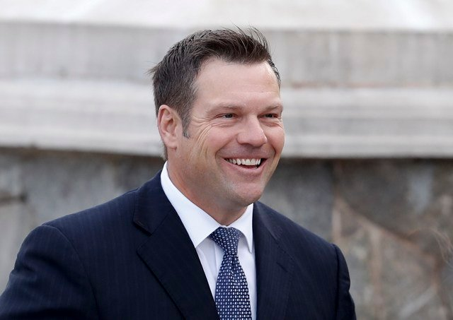 The Kansas native has served as the secretary of state since his election in January of 2011. (AP)