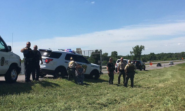 The deputy was treated by EMS services at the scene.(Clay County Sheriff's Office)
