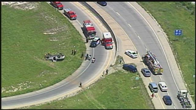 The crash happened in the area of I-635 and State Avenue. (KCTV)