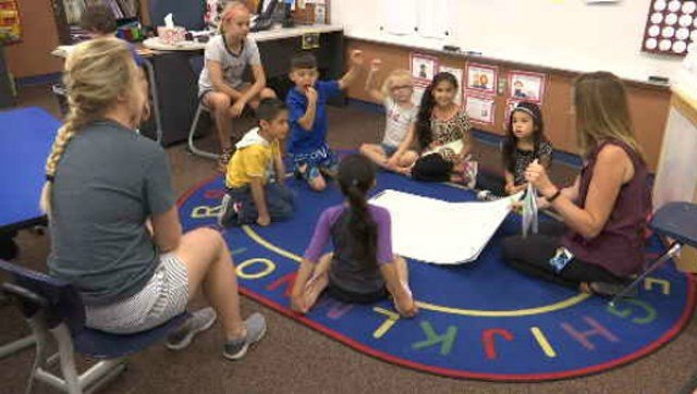 Normally school halls are quiet during the summer months, but at Ridgeview Elementary kids are busy learning at the Summer Learning Loss Prevention summer camp. (KCTV5)