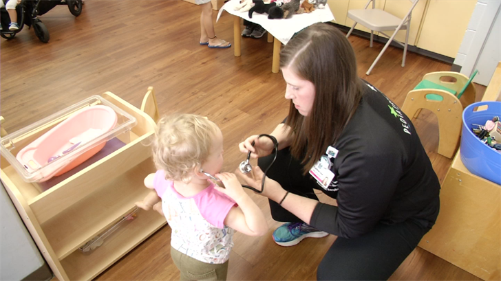 In a playful environment, kids had the opportunity to learn about health. (KCTV)