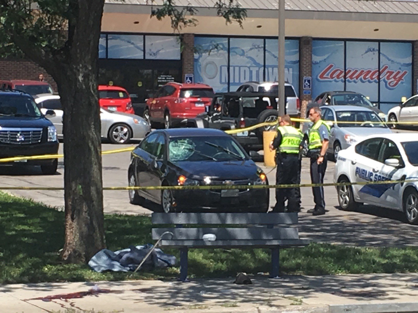 A pedestrian was hit and killed Friday nearMeyer Boulevard and Troost Avenue. (Bill Lindsay/KCTV5 News)