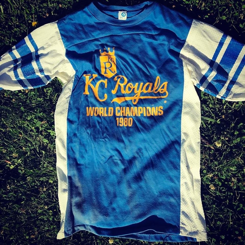 A woman in Grain Valley found a Royals shirt in her house that a previous owner left there. (Courtesy: Ashley Kallas)