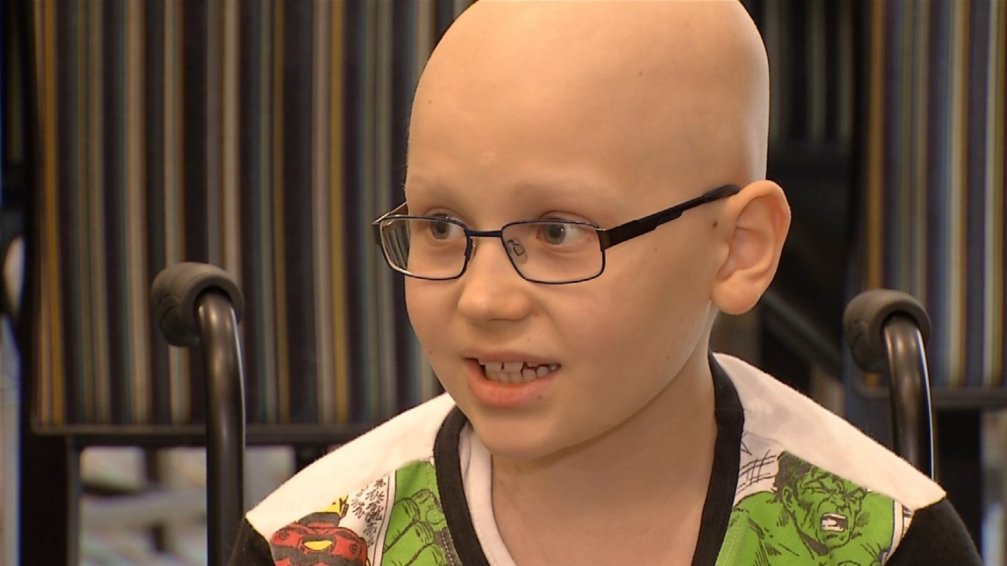 Alexander Goodwin finished his last radiation therapy treatment at the University of Kansas Cancer Center. (KCTV5)