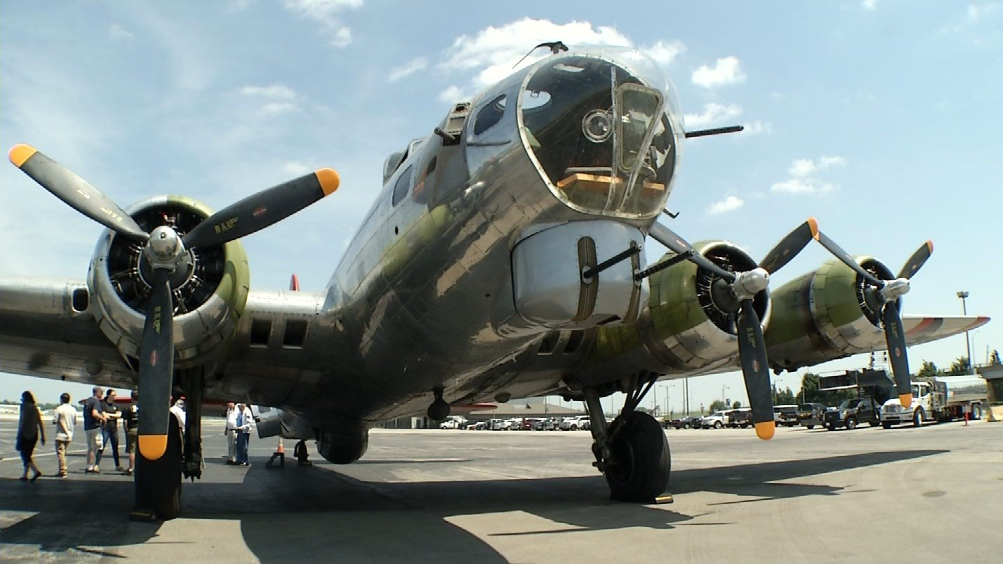 "The Boeing B-17 ""Madras Maiden"" is at the downtown airport in part of the Liberty Foundation's 2017 Salute to Veterans tour. (KCTV5)"