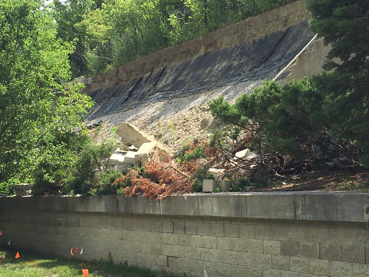 A crumbling retaining wall has drivers and the Leawood Public Works Department worried about falling rocks and safety in the area. (Kelli Taylor/ KCTV5)