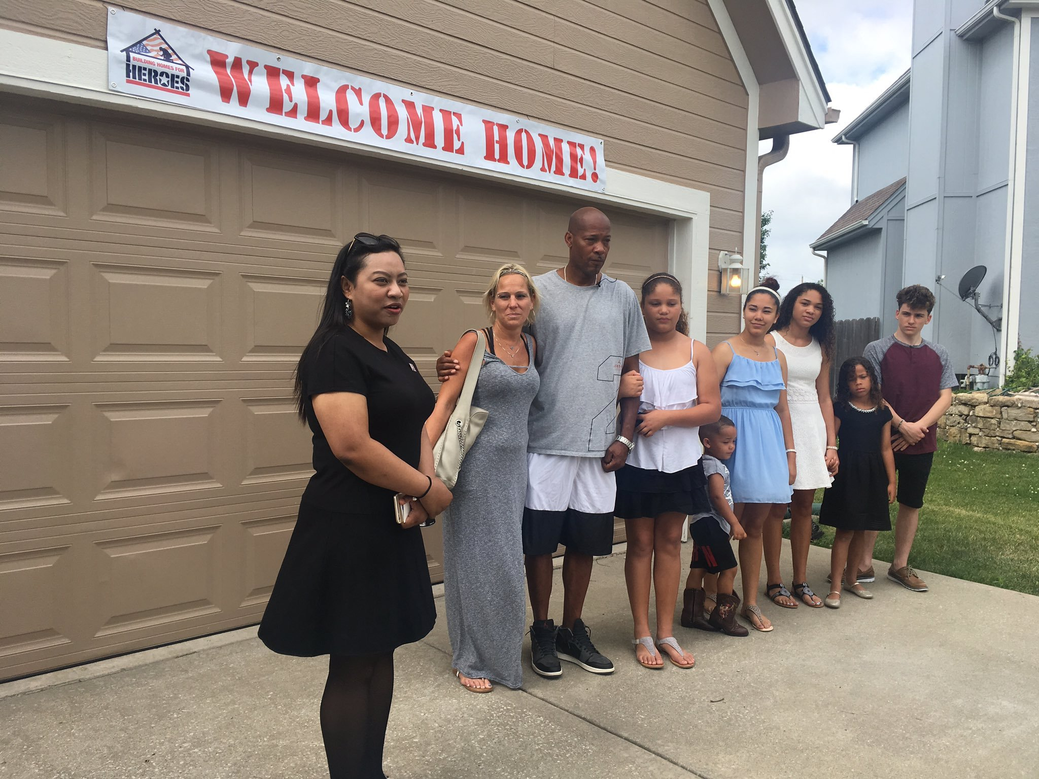 Army Sergeant Oscar Smith and his family are now calling Lee's Summit home after receiving a gift of a lifetime - amortgage-free home in honor of his service.(KCTV5)