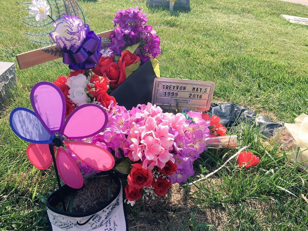 Family and friends of a high school senior who died last year are heartbroken again after his tombstone was removed from his grave.