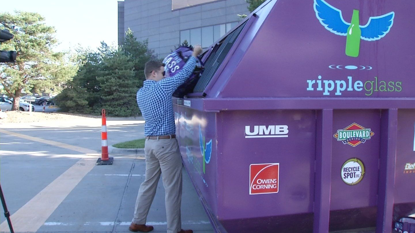 """Burns & McDonnell is encouraging employees to take """"The Glass Challenge,"""" a first-ever event for Kansas City in a major push to supportrecycling. (KCTV5)"""