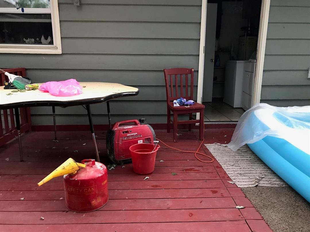 A portable generator caused four people to be transported to the hospital due to carbon monoxide poisoning. (Olathe Fire Department)