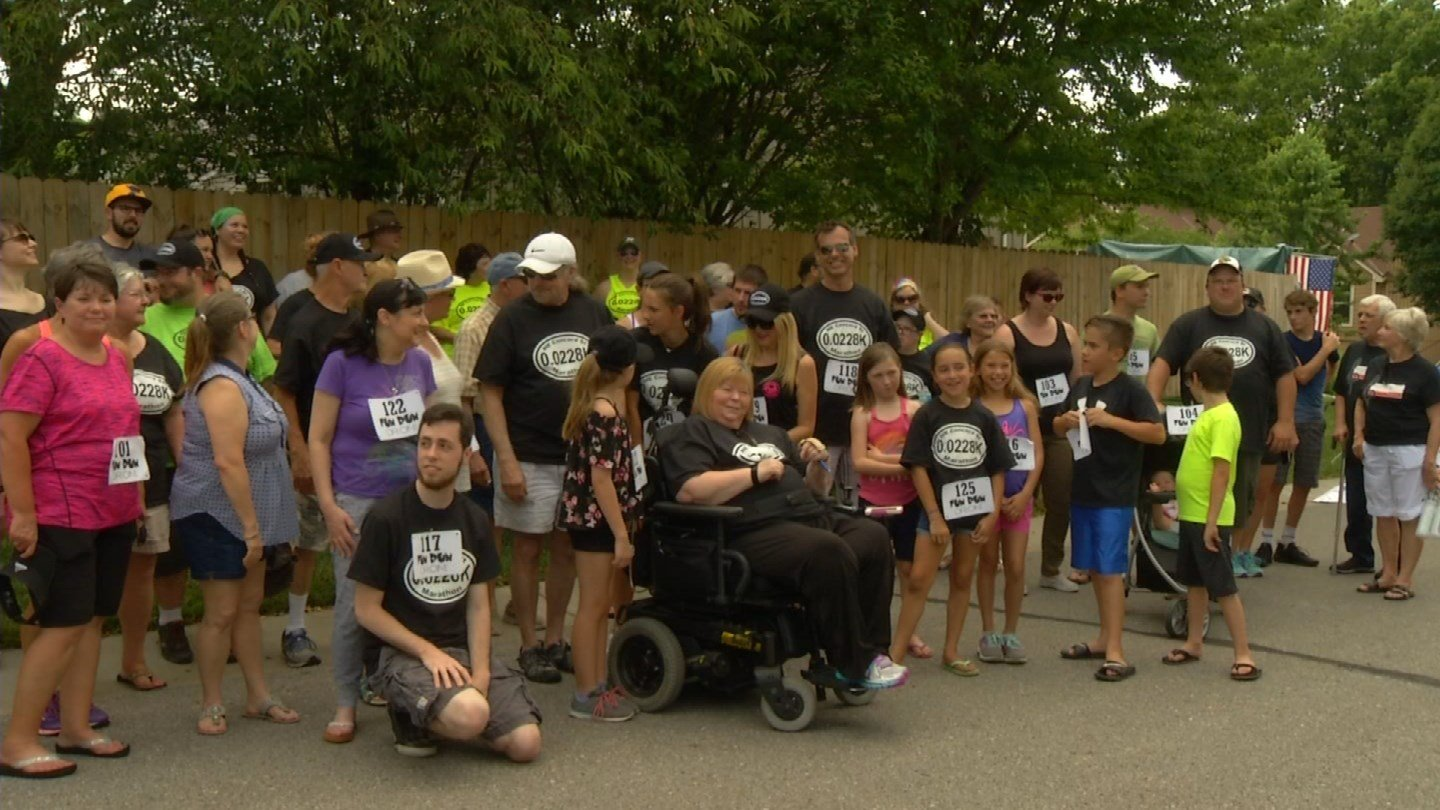The race raises funds for people who can use it. This year's recipient was Rosa Bussard and her husband. (KCTV)