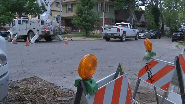 Many Hyde Park homes have not had power due to a storm several days ago. (KCTV5)