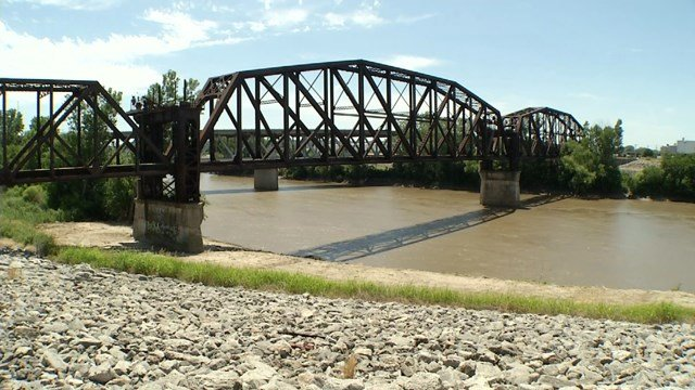 The bridge is currently closed and non-working but the goal is to make it a landmark destination and bike trail. (KCTV5)