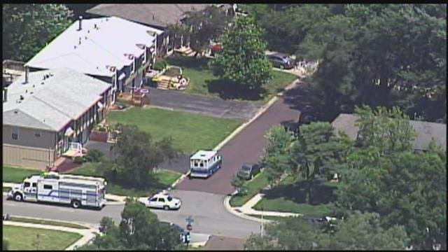 Investigators say they believe a man is barricaded in a home with a gun in the 9400 block of Taylor. (Chopper5)