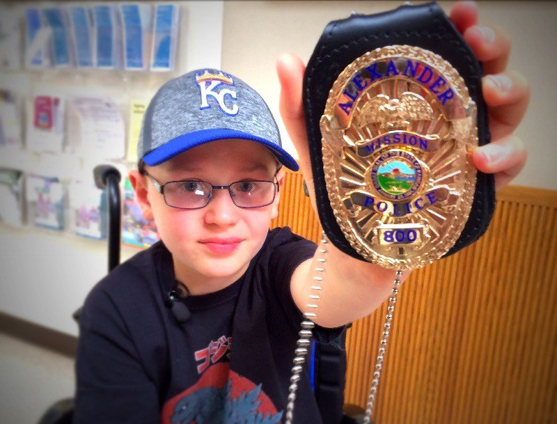 Alexander Goodwin is a cancer survivor from England. The 10-year-oldis using his new position in Mission to make people smile. (Brett Hacker/KCTV5 News)