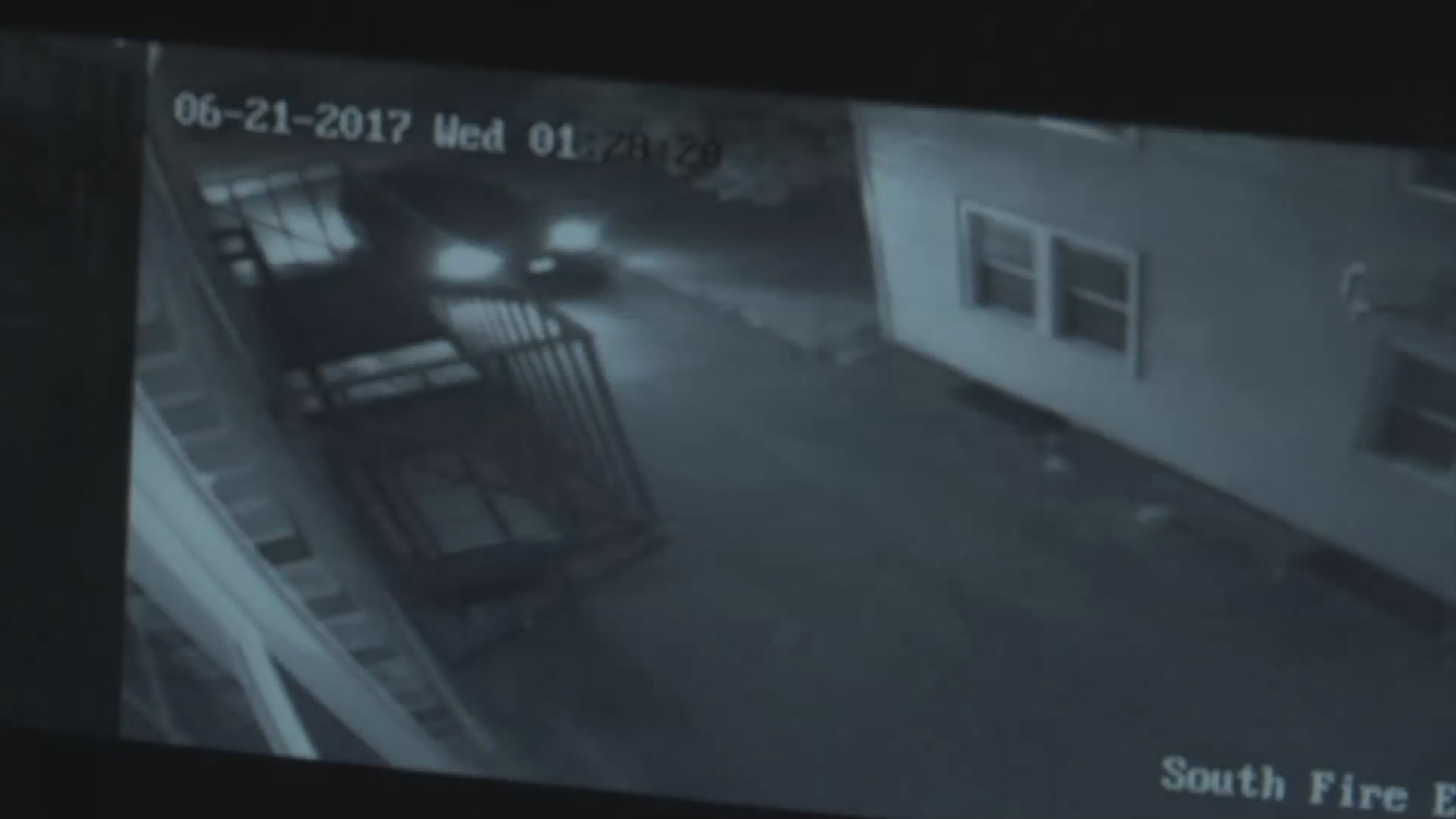 The thief pulled up, broke into the shed and stole $1,200 in equipment. (KCTV)