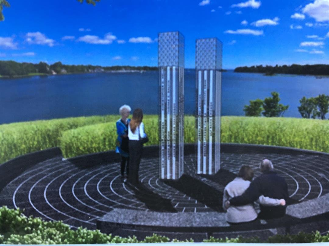 A piece of concept art for the victims' memorial. (Submitted to KCTV)
