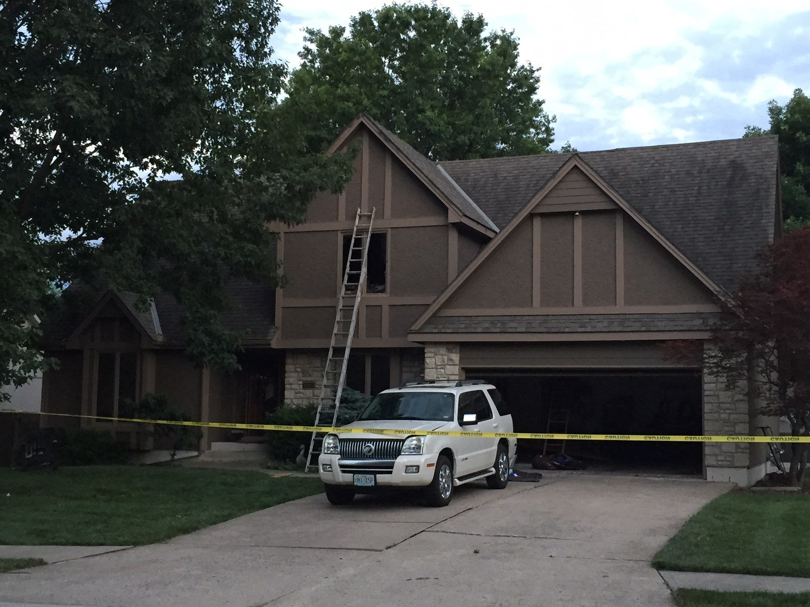 The house in Lee's Summit was set on fire after a burglary in order to destroy evidence of the crime, according to authorities. (KCTV)