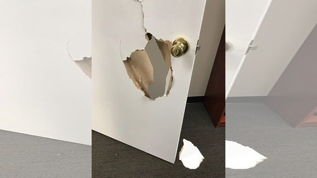 The center also says the crooks kicked in all of the interior doors and one exterior door, which they now have to replace. (Facebook/Joshua Center for Neurological Disorders)