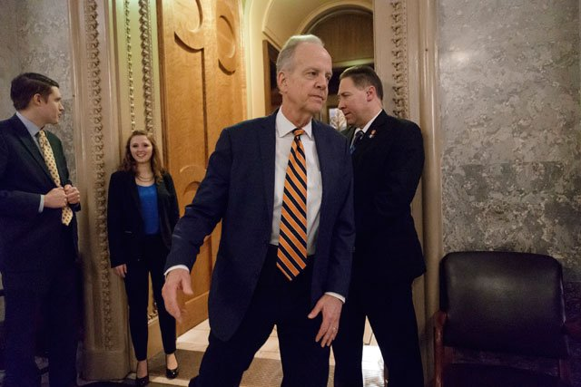 Kansas Sen. Jerry Moran says he is pleased with the delay in the U.S. Senate's debate on a Republican bill to overhaul health care. (AP)