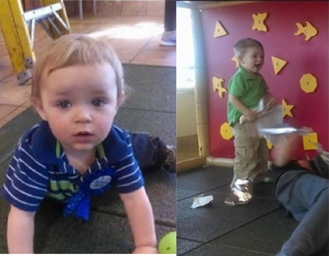 Cadenn McDowell, 1, (not pictured)  and Mason McDowell, 3, (left) were taken from the vehicle. (Ellis County Sheriff's Office)