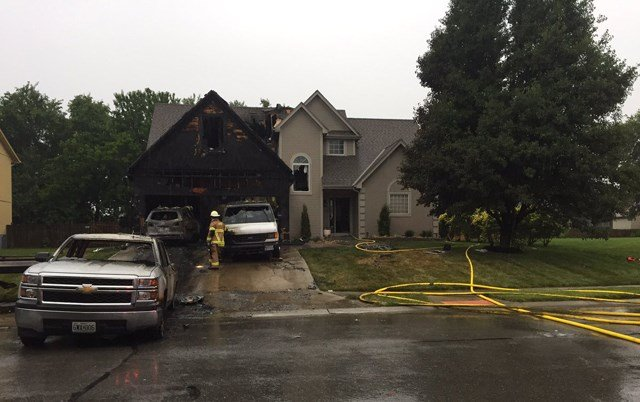 The fire started about 6:45 a.m. at a home in the 1100 block of Bordner Drive. (KCTV5)