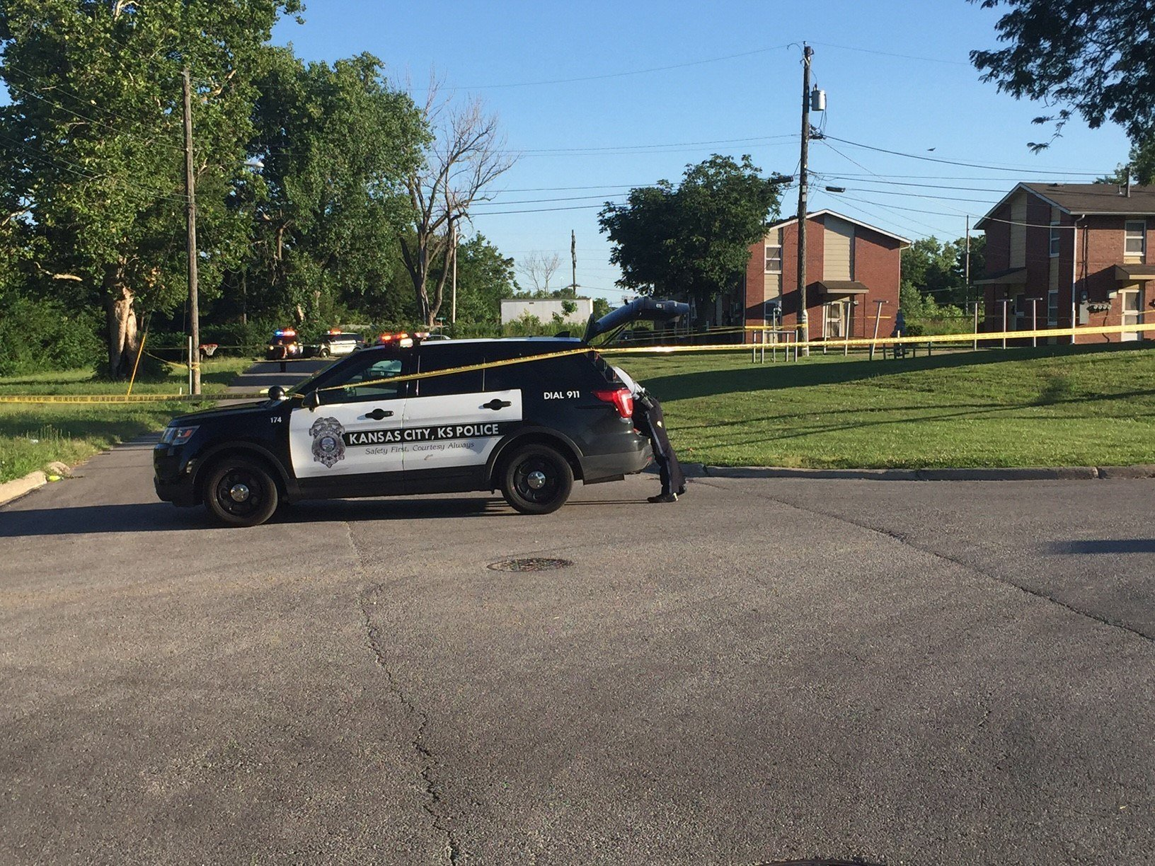 One person is in life-threatening condition after a shooting at 1st and Walker in KCK. (Dwain Crispell/KCTV)