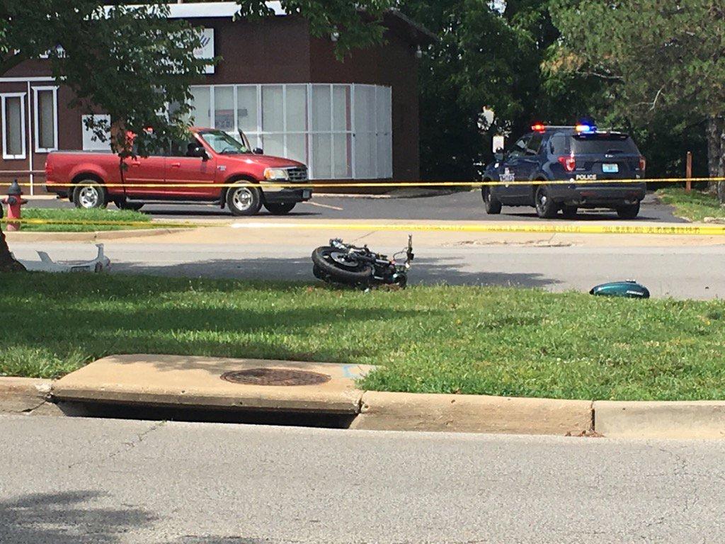 The scene of the crash around noon. (KCTV)