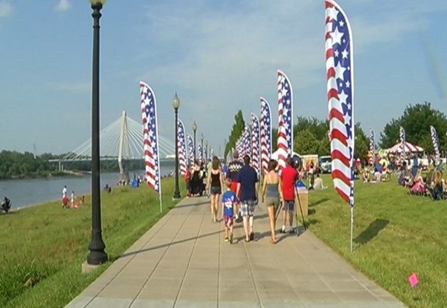 The main show begins about 9:40 p.m. as organizers promise the best firework show in the region. (KCTV5)