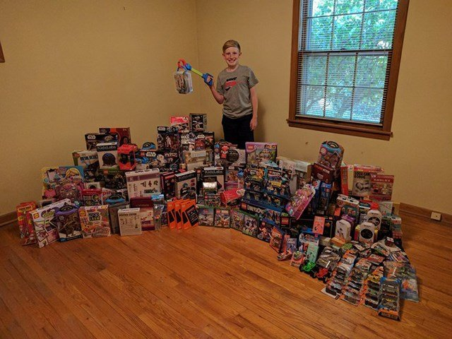 Ryder used the money to buy 250 toys, video games, board games and movies. (KCTV5)