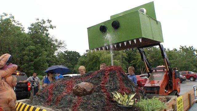 When weather canceled those plans, they decided to make their own parade, in the parking lot of the Overland Park Regional Medical Center. (KCTV5)