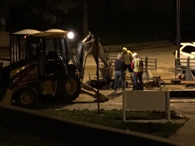 Crews at Kansas City International Airport are working to restore water service to one of its terminals after a water main broke. (Kim Olivier/KCTV5 News)