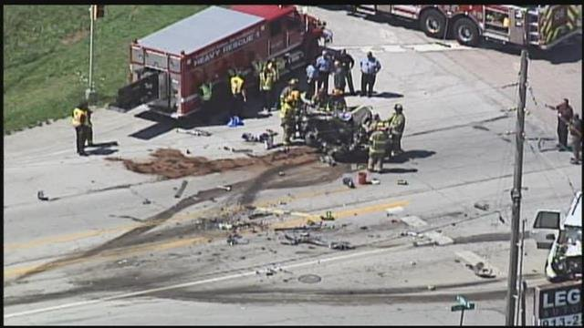 The crash happened about 10:15 a.m. near North 138th Street and Parallel Parkway. (KCTV5)