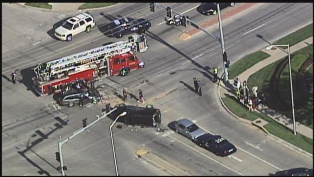 The scene at the crash. (KCTV)