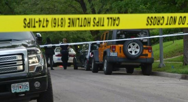 Police say the body was found in a yellow Jeep vehicle. (KCTV5)