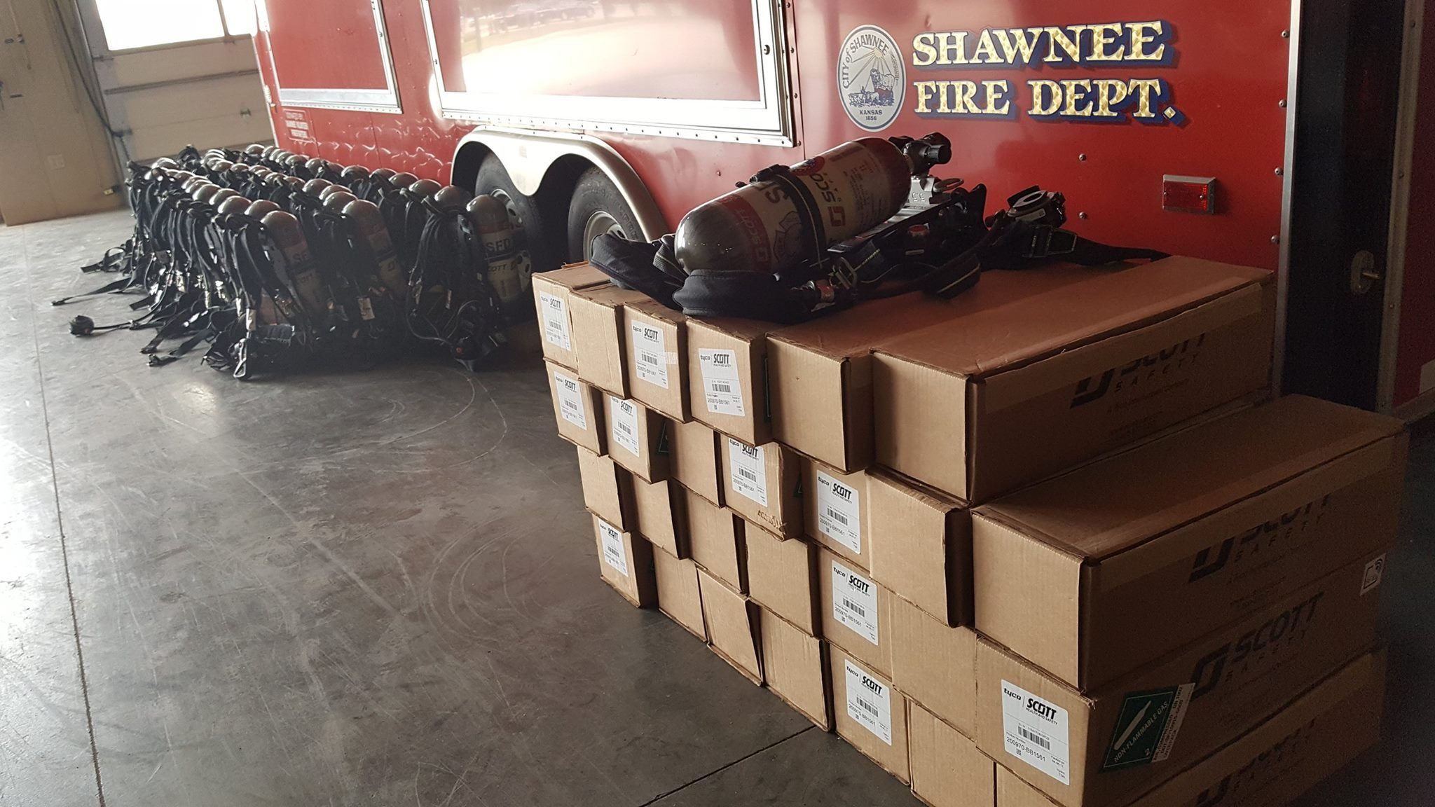 The Johnson County Fire Department received a grant of just over $2 million and used the money to purchase new breathing machines (City of Shawnee, KS Government/Facebook)