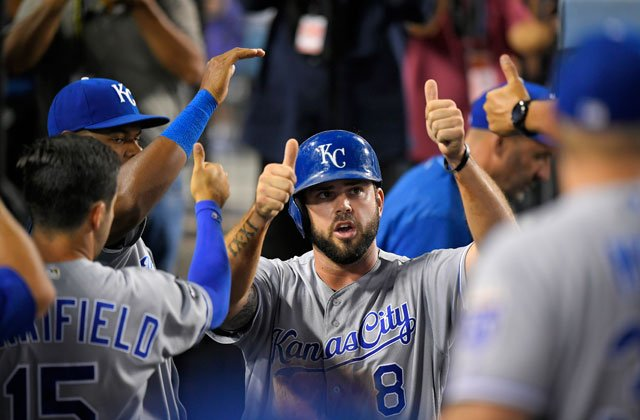 When Kansas City slugger Mike Moustakas takes the national stage Monday night, he will become just the third Royal ever to compete in Major League Baseball's Home Run Derby. (AP)