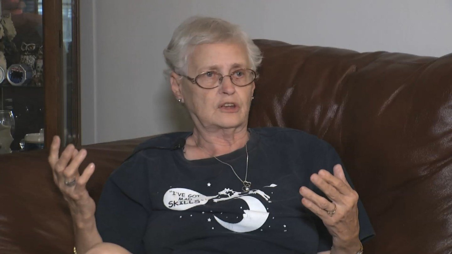 Beverly Petitt was watching TV Sunday morning when she was attacked.(KCTV5)