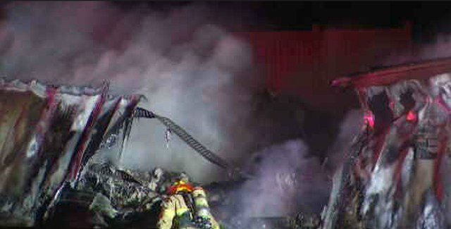 The fire was put out about 4 a.m. (KCTV5)
