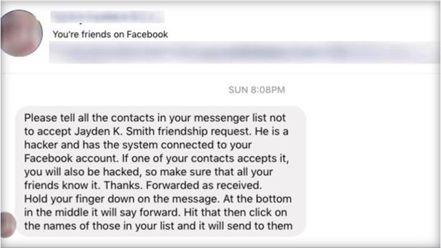 What's weird about the scam is that it's a hoax. There is no Jayden Smith. And even if there were, simply accepting a friend request wouldn't put someone at risk. (KCTV5)